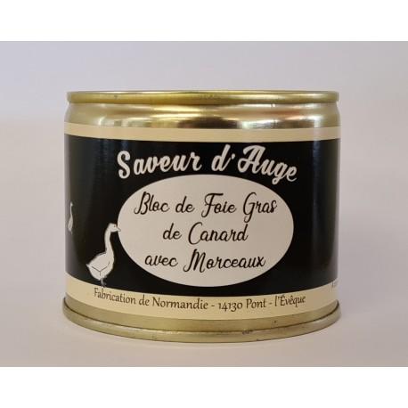 Bloc de Foie Gras Canard avec Morceaux 200g Saveur d'Auge