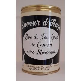 Bloc de Foie Gras Canard avec Morceaux 400g Saveur d'Auge